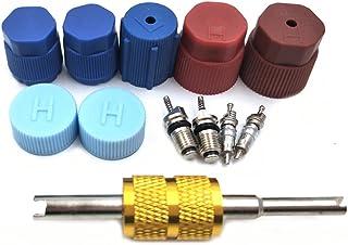 Nikauto 1 Set Auto Kappe & Ventil Klimaanlage Dichtungs Kit R12 R134a Ersatzteile Auot AC Kompressor Reparaturteile