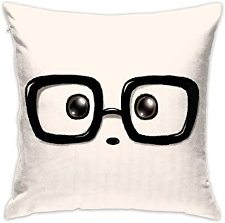 Beverly H. Griffin Pillowcase Hold Pillow Geek Chic Panda Eyes Fashion Living Room Pillow 17.7x17.7