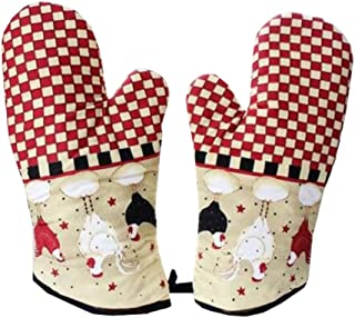 Dragon Troops Heat Resistant Kitchen Oven Mitts (Set of 2) for BBQ/Cooking/Baking/Grilling,#F