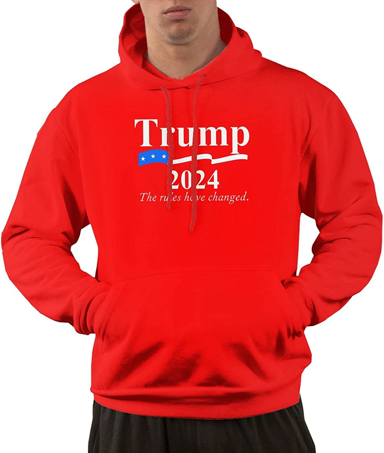 Trump 2024 Man With A Slim Sweatshirt Pocket Fit It is All items in the store very popular Sweater