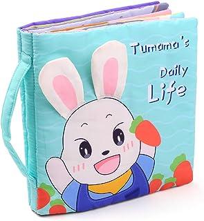 tumama tumama 3D Cloth Book Soft Books Daily Life Touch & Feel Shape Color Sensory Book Educational Activity Toys Gifts fo...