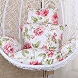Micaza Nest Poltrona Sospesa con Cuscino, Cuscino Basket di Vimini Swing Chair Cushion Ind...