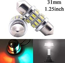 Shangyuan 31mm Marine LED Festoon Bulb for Navigation Light, Boat Light Bulbs for Boat Anchor Light, Boat Navigation Lights, Mast Masthead Light, Super Bright 12 Volt Bulbs for Boat Lights 2PCS