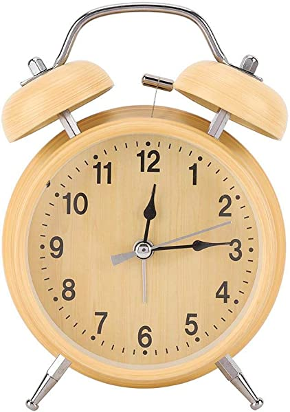 AUNMAS Alarm Clock Retro Mechanical Manual Wind Up Metal Clock Double Twin Bell Clock For Bedrooms Time Management Heavy Sleepers