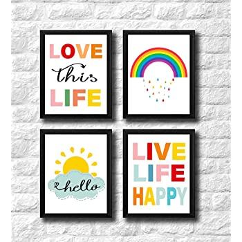 Bathroom Frameless Prints Inspirational Posters Quotes Decor Wall Funny Artwork