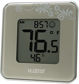 La Crosse Technology 302-604S Silver Indoor Digital Thermometer and Hygrometer Station with MIN/MAX records and Comfort level icon