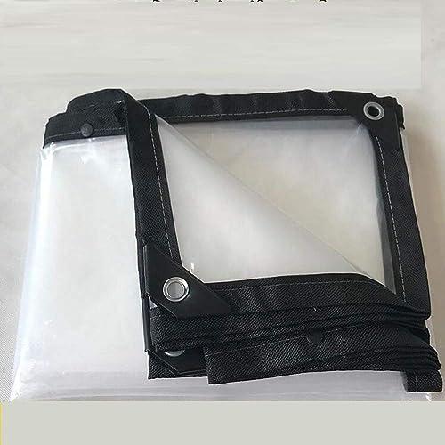XRFHZT Bache Transparente imperméable à l'eau de Tarpaulin pour l'abri de Serre Chaude, Tissu de Tente de Bateau de Plante,3mX6m