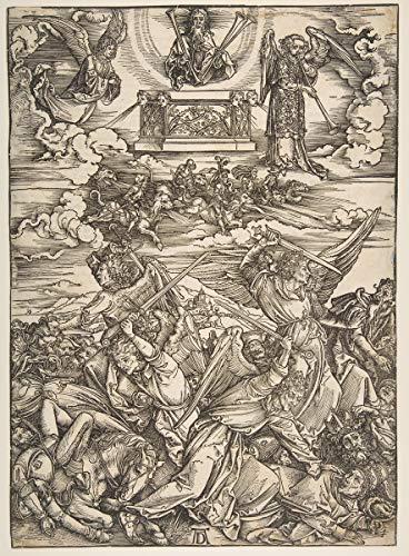 Berkin Arts Albrecht Durer Giclee Imprimir en Lienzo-Pinturas Famosas Arte Fino Póster-Reproducción Decoración de Pared(Los Cuatro ángeles Vengadores del Apocalipsis) Tamaño Grande 58.9 x 80cm