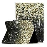Shinyzone Coque pour Samsung Galaxy Tab 4 10.1 SM-T530/T535 Or et Noir, Housse Étui avec Support...