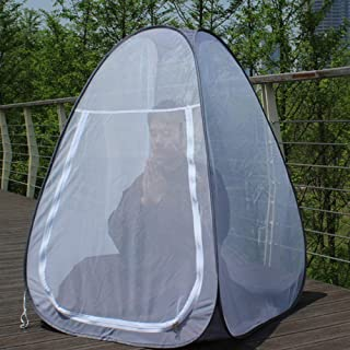 Walmeck Buddhist Meditation Tent Single Mosquito Net Temples Sit-in Free-standing Shelter Cabana Quick Folding Camping Tent