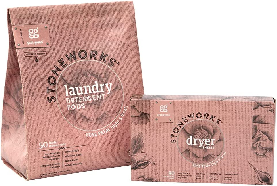 Grab Green Stoneworks Natural Laundry Pod and R Kit Sales Sheet Max 43% OFF Dryer