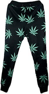 MZjJPN Fashion Mens Joggers Pants 3D Graphic Printed Black Weed Leaf Sweatpants for Mens/Womens Hip Hop Style Trousers