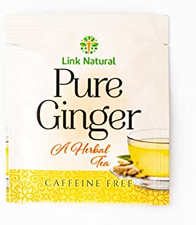 Ayurvedic Herbal Ceylon Tea Pure Sri Lankan Ginger Root Tea 100 Teabags Total (Link Pure Ginger, 50 Sachets x 2 Boxes)