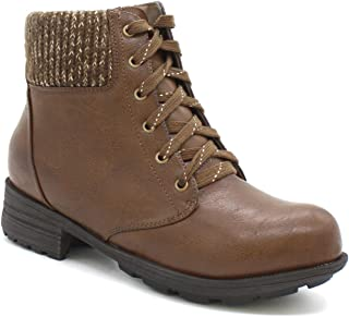 Comfy Moda Women's Insulated Fur Lined Winter Boots Hunter