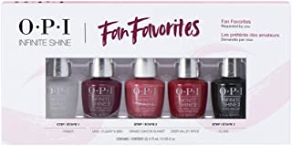 OPI Fan Faves 5 Piece Mini, Infinite Shine, 0.625 Fl Oz