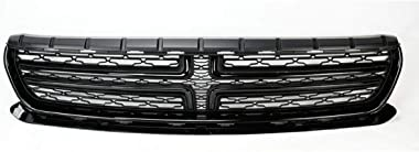 MDYHJDHYQ Front Air Grille Front Upper Bumper Grill Grille for Dodge Charger 2015-2018 Glossy Black ABS Car Accessories