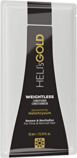 HELI's GOLD Weightless Conditioner - For Fine/Thin Hair - Nourish & Revitalize - Energize Scalp - Full Natural Bounce & Shine - Paraben, SLS, Mineral Oil Free, Color Safe - 0.34 oz