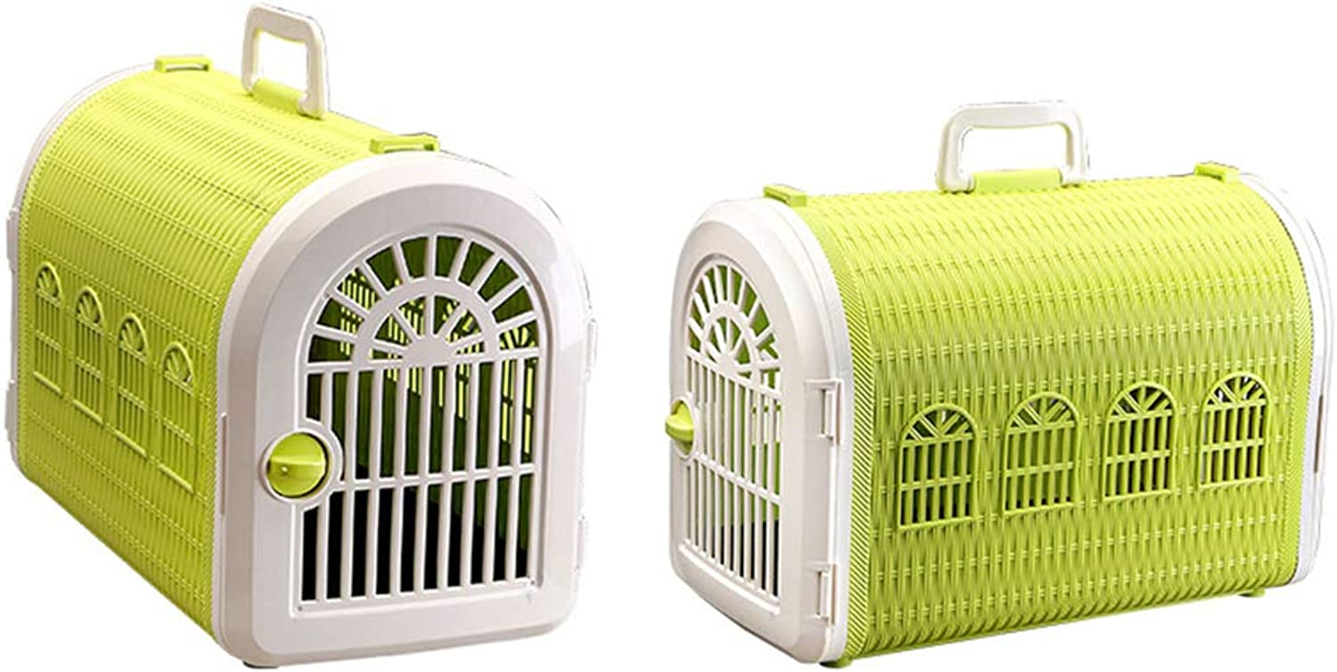 Pet Air Box Pet Basket Pet Suitcase Cage Pet Supplies Cats And Dogs Out Of The Portable Air Box,Yellow