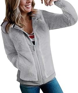 Teddy Bear Sweatshirt for Women Winter Warm Faux Fur Sweatshirt Fleece Pullover Long Sleeve Sweater