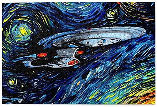 Star Trek Puzzles en bois 1000 pièces pour adultes, puzzles pour enfants 1000 pièces, jeu de défi, jouets cadeaux pour adultes, enfants, adolescents, famille Puzzles-29,5x19,7 pouces