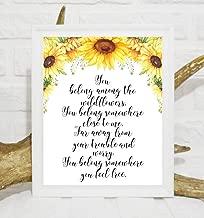 Arvier You Belong Among The Wildflowers Print Tom Petty Printable Wildflowers Lyrics Nursery Quotes Floral Nursery Girl Decor Nursery Wall Decor