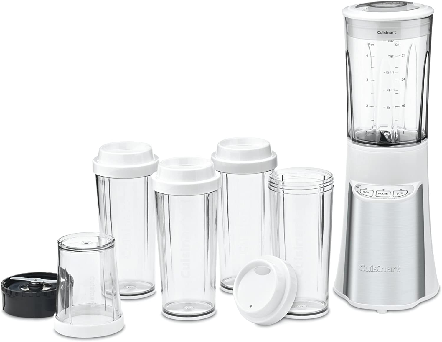 Cuisinart CPB-300W SmartPower 15 Piece Compact Portable Blending Chopping System, White