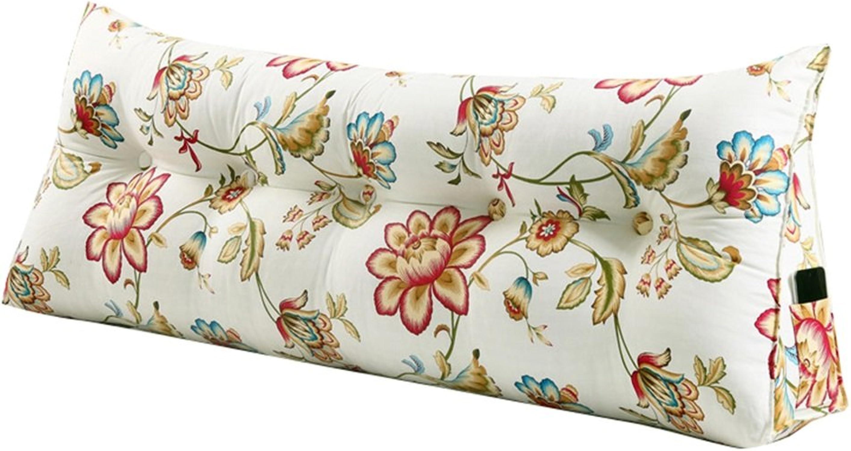 Grand Coussin de soucravaten de dos d'oreiller de triangle en tant que coussin de lecture Coussin lombaire Taille oreiller Lit de chevet de dossier de tête de lit de chevet (taille   120×50×20cm)