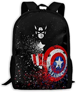 Custom Captain America Casual Backpack School Bag Travel Daypack Gift