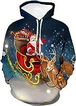 iLOOSKR Autumn Winter Sweatershirt Men's Christmas 3D Printing Long Sleeve Casual Sweatershirt Tops