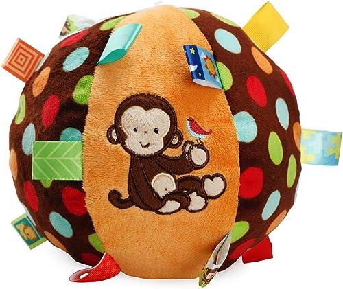 marca de lujo PRENKIN Bola Suave Suave Suave Juguetes de Colors Campana de Mano Rattle Desarrollar Juguetes táctil Bite Atrapados Herramienta de Mano Que agarra la Bola del bebé Aprendizaje  soporte minorista mayorista