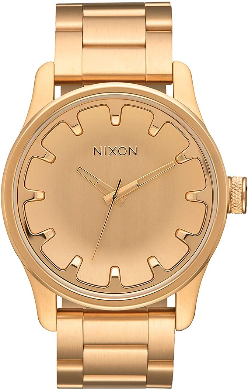 NIXON Driver A979 - All Watch Steel Analog Gold Stainless 100%品質保証 返品交換不可