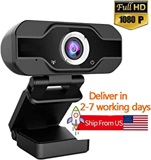 PC Webcam, TedGem 1080P Full HD Webcam USB Desktop & Laptop Webcam Live Streaming Webcam with Microphone Widescreen HD Vid...