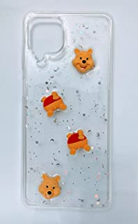 Transparent Silicon Glitter Back Cover 3D Toys Samsung Galaxy A12