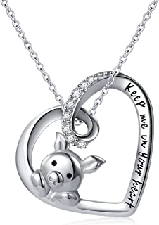925 Sterling Silver Cute Pig Pendant Necklace Earrings Ring Bracelet for Women Girls Jewelry Birthday Gift