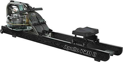 First Degree Fitness Apollo II Reserve AR Indoor Water Rowing Machine, Black