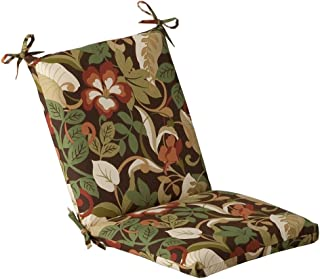Pillow Perfect Indoor/Outdoor Brown/Green Tropical Chair Cushion, Squared