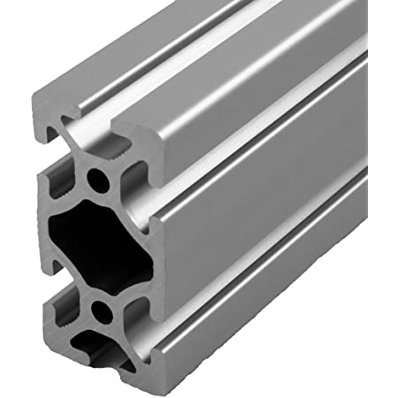 Geesatis 4 pcs Straight Line Connector 2020 Series T Slot Aluminum Extrusion Profile 100 mm Joint Bracket Silver with Mounting Screws