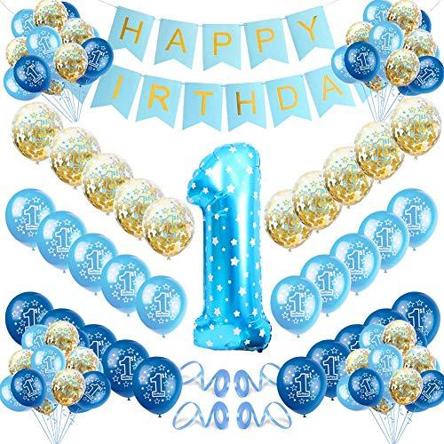 Sunshine smile geburtstagsdeko 1 Jahr Junge,1 Jahr Luftballons,Kindergeburtstag deko,erste Geburtstag deko Junge,Happy Birthday Banner,1. Geburtstag Dekorationen