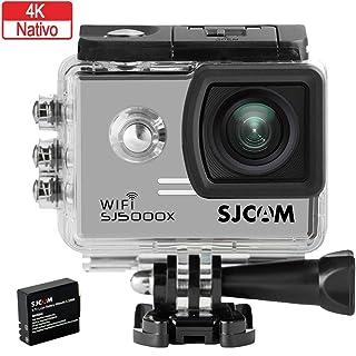 SJCAM SJ5000X Elite (versión española) - Videocámara deportiva (WiFi integrado 4K pantalla de 2 LCD WiFi sumergible 30 m) color plateado