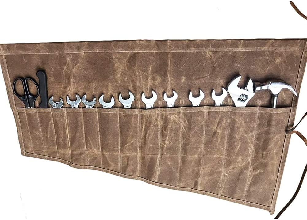 Waxed Canvas Wrench Roll Pouch Regular discount Tools O Hand Multi-Purpose Purchase Small