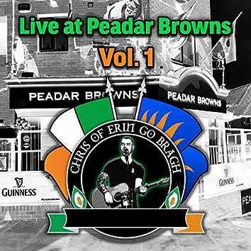 Live at Peadar Browns, Vol.1 (Live)