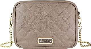 Itzy Ritzy Crossbody Diaper Bag – Features 6 Pockets & 2 Compartments; Includes Changing Pad; Taupe