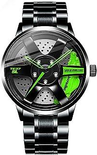 Reloj De Cubo De Llanta De Coche, Deporte 3D Impermeable, Movimiento De Cuarzo JaponéS, Reloj De Cubo De Llanta para Hombr...