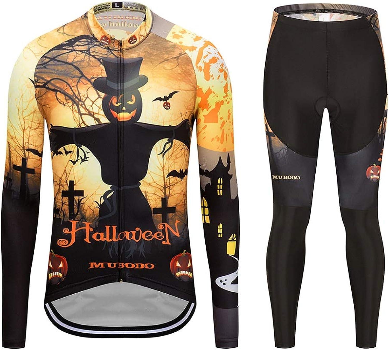 Tcy 2019 Newest Halloween Style Pfofessional Long Sleeves Cycling Jersey Bid Set