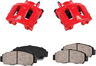CCK01150 [2] FRONT Performance Loaded Powder Coated Red Caliper Assembly + Quiet Low Dust Ceramic Brake Pads