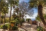 Posterlounge Cuadro de Madera 100 x 70 cm: In The Garden of Son Marroig (Mallorca, Spain) de Christian Müringer
