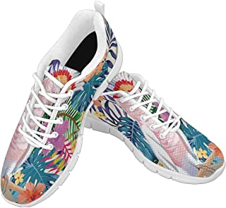Zenzzle Women's Lightweight Breathable Athletic Walking Sneakers Fantastic Turquoise Floral Ornament with Paisley Size US6-12