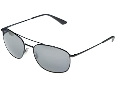 Ray-Ban RB3654 Square Metal Sunglasses 60 mm Polarized