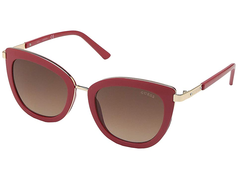GUESS GF6089 (Shiny Red/Gradient Brown) Fashion Sunglasses