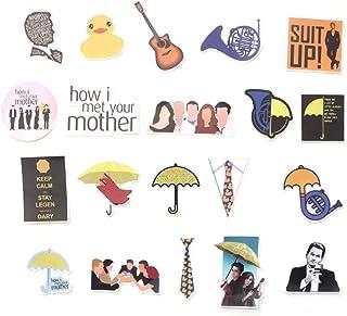 البرنامج التلفزيوني كيف ألمت والدتك تحت عنوان 20 قطعة ملصق مجموعة ملصقات للأطفال البالغين - ملصقات لوح تزلج للكمبيوتر المح...